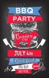 Πρόσκληση κόμματος σχαρών BBQ σχέδιο επιλογών προτύπων Ιπτάμενο τροφίμων απεικόνιση αποθεμάτων