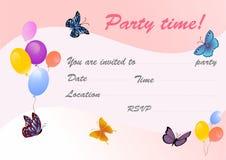 Πρόσκληση κόμματος Στοκ Εικόνες