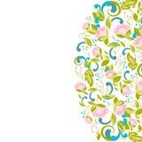 Πρόσκληση με το αφηρημένο floral υπόβαθρο Στοκ Εικόνες