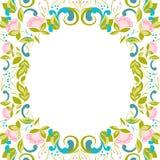 Πρόσκληση με το αφηρημένο floral υπόβαθρο Στοκ Φωτογραφίες