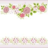 Πρόσκληση με το αφηρημένο floral υπόβαθρο Στοκ Φωτογραφία