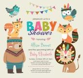 Πρόσκληση ντους μωρών ελεύθερη απεικόνιση δικαιώματος