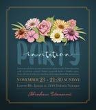 Πρόσκληση λουλουδιών Στοκ Εικόνες
