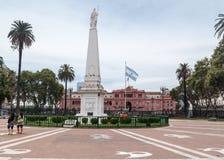 Πρόσοψη Αργεντινή Plaza de Mayo Casa Rosada Στοκ φωτογραφίες με δικαίωμα ελεύθερης χρήσης