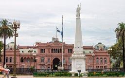 Πρόσοψη Αργεντινή Plaza de Mayo Casa Rosada Στοκ Φωτογραφία