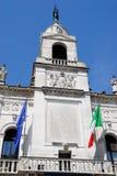 Πρόσοψη Δημαρχείων στην Πάδοβα στο Βένετο (Ιταλία) Στοκ εικόνα με δικαίωμα ελεύθερης χρήσης