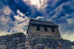 Πρόσοψη ενός κτηρίου Inca με τα τραπεζοειδή παράθυρα στοκ εικόνες με δικαίωμα ελεύθερης χρήσης