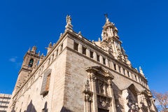 Πρόσοψη Ισπανία εκκλησιών της Βαλένθια Santos Χουάνες Στοκ Φωτογραφία