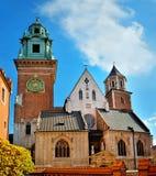Πρόσοψη κάστρων Wawel Στοκ Εικόνες