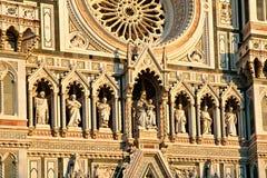 Πρόσοψη καθεδρικών ναών της Φλωρεντίας Στοκ Φωτογραφίες