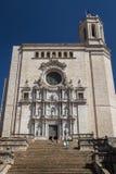Πρόσοψη καθεδρικών ναών, Girona πόλη Στοκ φωτογραφία με δικαίωμα ελεύθερης χρήσης