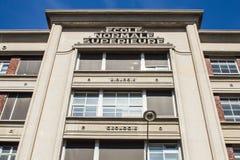 Πρόσοψη, κτήριο επιστήμης, Ecole Normale Superieure, Παρίσι, φράγκο στοκ εικόνα