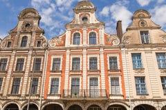 Πρόσοψη κτηρίων Arras, Γαλλία Στοκ Εικόνες