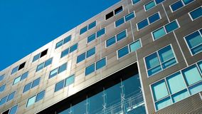 Πρόσοψη κτιρίου γραφείων, εταιρικό εξωτερικό αρχιτεκτονικής Στοκ Εικόνα