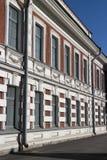 Πρόσοψη σπιτιών στο κλασσικό ύφος Στοκ εικόνες με δικαίωμα ελεύθερης χρήσης