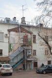 Πρόσοψη σπιτιών Yaroshenko στην οδό Podkolokolny στη Μόσχα Στοκ εικόνα με δικαίωμα ελεύθερης χρήσης