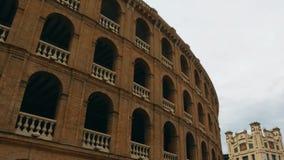 Πρόσοψη ταυρομαχίας ισπανικός-ύφους στη Βαλένθια, Ισπανία φιλμ μικρού μήκους
