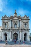 Πρόσοψη της εκκλησίας της κυρίας Rosary μας, Πομπηία, Ιταλία Στοκ Εικόνες