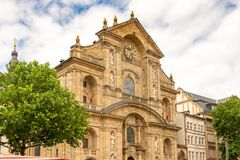 Πρόσοψη της εκκλησίας του ST Martin στη Βαμβέργη Στοκ φωτογραφίες με δικαίωμα ελεύθερης χρήσης