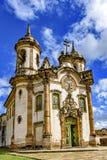 Πρόσοψη της εκκλησίας São Francisco de Paula Στοκ Φωτογραφία