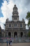 Πρόσοψη της εκκλησίας της ιερής τριάδας στο Παρίσι στοκ εικόνες με δικαίωμα ελεύθερης χρήσης