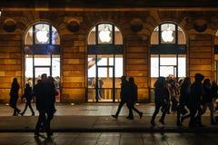 Πρόσοψη της Apple Store, αγορά Χριστουγέννων Στοκ φωτογραφία με δικαίωμα ελεύθερης χρήσης