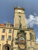 Πρόσοψη του αστρονομικού πύργου ρολογιών της Πράγας στοκ εικόνες