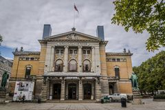 Εθνικό θέατρο, Όσλο, Νορβηγία στοκ φωτογραφίες