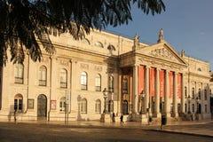 Πρόσοψη του εθνικού Teather. Λισσαβώνα. Πορτογαλία στοκ εικόνα