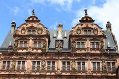 πρόσοψη του κάστρου της Χαϋδελβέργης Στοκ Εικόνες