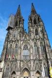 Πρόσοψη του καθεδρικού ναού της Κολωνίας, Γερμανία, Ευρώπη στοκ εικόνα