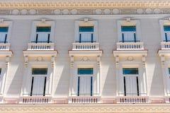 Πρόσοψη του κτηρίου, Κούβα, Αβάνα Κινηματογράφηση σε πρώτο πλάνο Στοκ φωτογραφίες με δικαίωμα ελεύθερης χρήσης