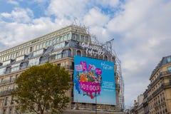 Πρόσοψη του Λαφαγέτ Galeries στο Παρίσι, Γαλλία στοκ εικόνα με δικαίωμα ελεύθερης χρήσης