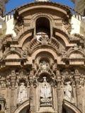 Πρόσοψη του μοναστηριού του Σαν Φρανσίσκο στη Λίμα, Περού στοκ εικόνες