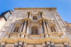 Πρόσοψη του μοναστηριού Plaza del Carmen στη Βαλένθια Στοκ Εικόνες