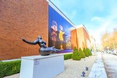 Πρόσοψη του Μουσείου Τέχνης του Πόρτλαντ ορόσημων στο Πόρτλαντ, Όρεγκον στοκ φωτογραφία