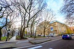 Πρόσοψη του Μουσείου Τέχνης του Πόρτλαντ ορόσημων στο Πόρτλαντ, Όρεγκον στοκ φωτογραφίες