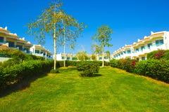 Πρόσοψη του ξενοδοχείου με Sheikh Sharm EL μπαλκονιών και παραθύρων, Αίγυπτος Στοκ εικόνες με δικαίωμα ελεύθερης χρήσης