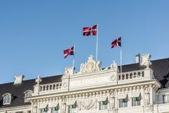Πρόσοψη του ξενοδοχείου DÂ'angleterre στην Κοπεγχάγη Στοκ Φωτογραφία