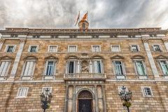 Πρόσοψη του Παλάου de Λα Generalitat de Catalunya, Βαρκελώνη, Ισπανία Στοκ εικόνες με δικαίωμα ελεύθερης χρήσης