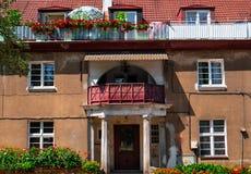 Πρόσοψη του παλαιού σπιτιού στο Γντανσκ στοκ εικόνα με δικαίωμα ελεύθερης χρήσης