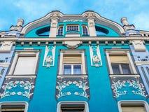 Πρόσοψη του παλατιού Miksa Moskovits, Oradea, Ρουμανία Στοκ φωτογραφία με δικαίωμα ελεύθερης χρήσης