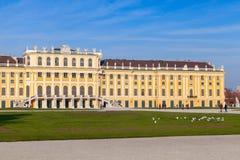Πρόσοψη του παλατιού Schonbrunn στη Βιέννη, Αυστρία στοκ φωτογραφίες με δικαίωμα ελεύθερης χρήσης
