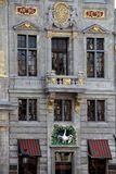 Πρόσοψη του σπιτιού συντεχνιών του «Κύκνου» στη μεγάλη θέση, Βρυξέλλες (κοινότητα), Βρυξέλλες (πρωτεύουσα & περιοχή), Βέλγιο Στοκ φωτογραφία με δικαίωμα ελεύθερης χρήσης