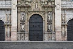 Πρόσοψη του της Λίμα καθεδρικού ναού Plaza de Armas Στοκ Φωτογραφία