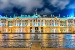 Πρόσοψη του χειμερινού παλατιού, μουσείο ερημητηρίων, Αγία Πετρούπολη, Ρ στοκ φωτογραφίες