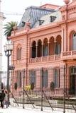 Πρόσοψη του Casa Rosada στο Μπουένος Άιρες - την Αργεντινή Στοκ Φωτογραφία