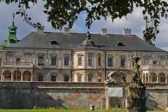 Πρόσοψη του Castle Pidhirtsi Στοκ Εικόνες