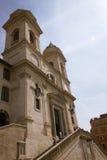 Πρόσοψη του dei Monti Trinita εκκλησιών Στοκ φωτογραφία με δικαίωμα ελεύθερης χρήσης