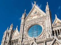 Πρόσοψη του Di Σιένα Duomo θόλων της Σιένα Στοκ φωτογραφία με δικαίωμα ελεύθερης χρήσης